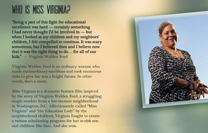 Miss Virginia, inspired by the true story of Virginia Walden Ford