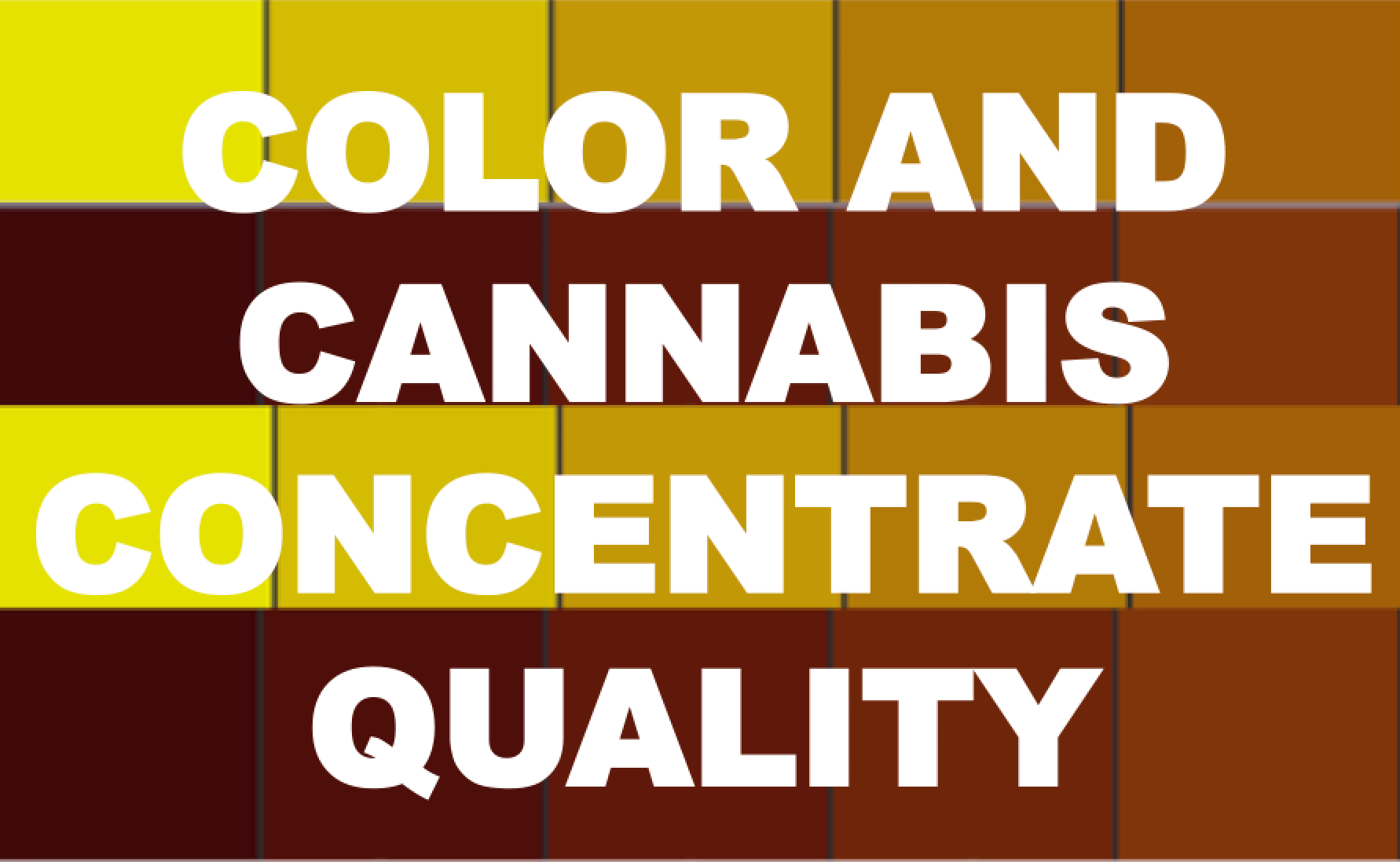 Color and Cannabis Concentrate Quality – Extraction by
