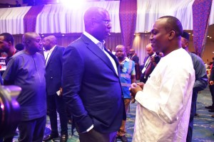 Honorable Minister of State for Petroleum Resources, Chief Timipre Sylva and Mr. Basher Abara, Director / Chief of Staff to Minister of Petroleum, Niger Republic
