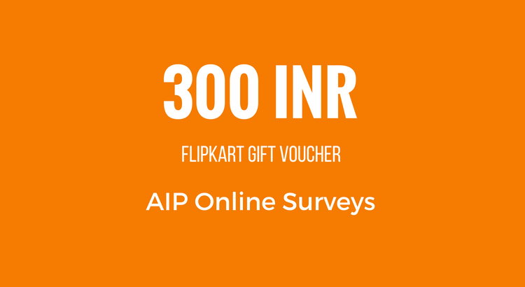 300 INR Reward - AIP Online Surveys
