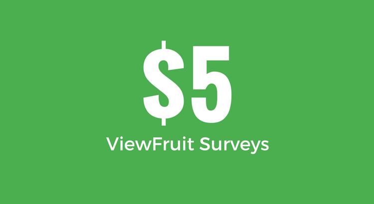 Survey Reward - $5 - ViewFruit