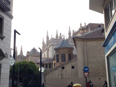The Granada Cathedral from a distance.