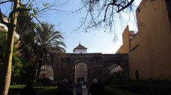 Just inside the massive gates, Real Alcazar