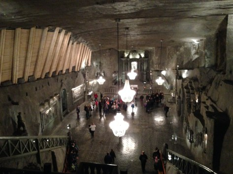 The chapel deep underground.