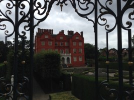 Kew Palace on a grey day.