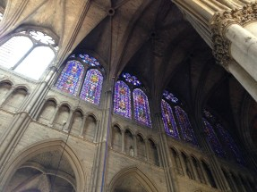 The stained glass was breathtaking.