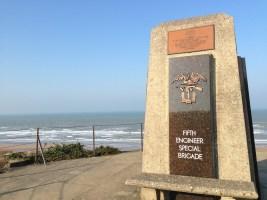 The Fifth Engineer Special Brigade Memorial at Omaha Beach.