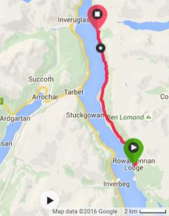 The 7.04mi from Rowardennan to Inversnaid.