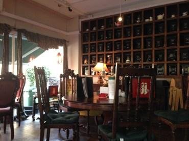 The Tea Box wall of teas.