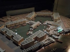 A model representation of St. Katherine Docks, 1830.
