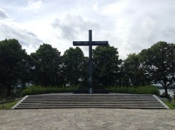 The massive war memorial on the far west side of the grounds.