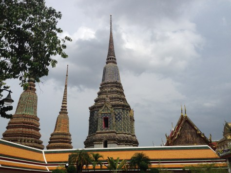 The graves of the royal family in Wat Pho.