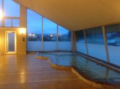 The hotel hot tub was a godsend.