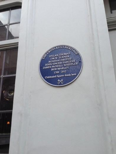 The Cross Keys pub where JMW Turner was a patron.