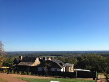 Overlooking the slave quarters on Mulberry Row.