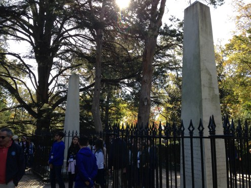Washington Monument obelisks in the family cemetery.