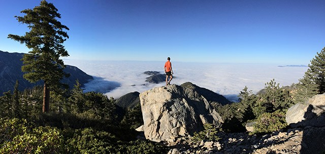 Floris Gierman trail running Mt Baldy