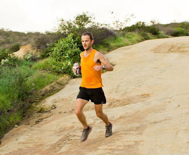 Trail running Floris Gierman, El Moro Newport Beach