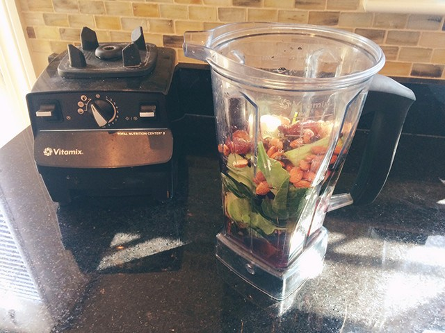 Vitamix Blender to make epic vegetable shakes