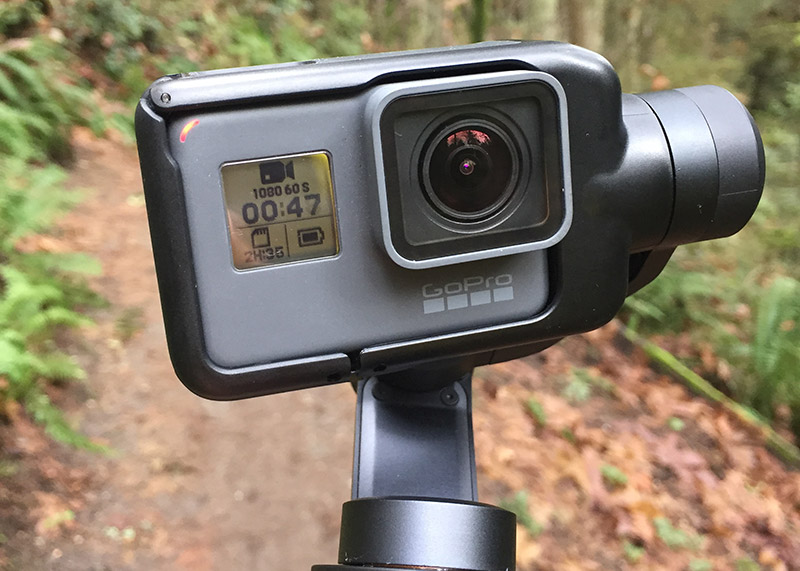 Running with go pro with karma grip, extramilest