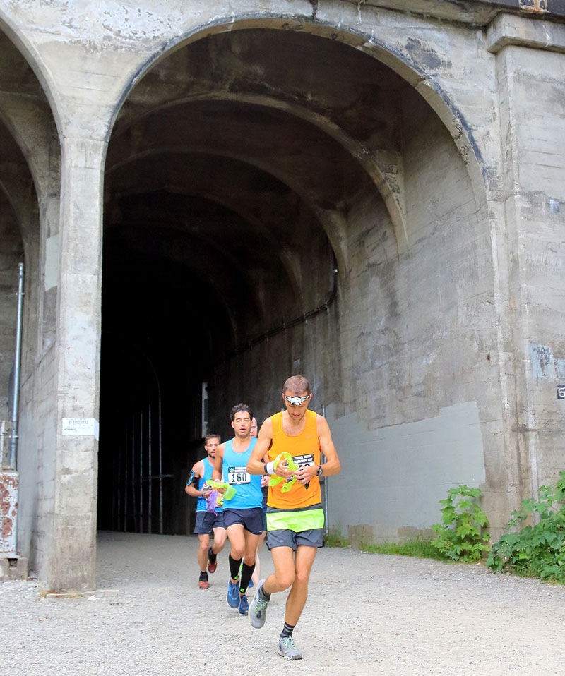 Running out of Tunnel in Tunnel Vision Marathon