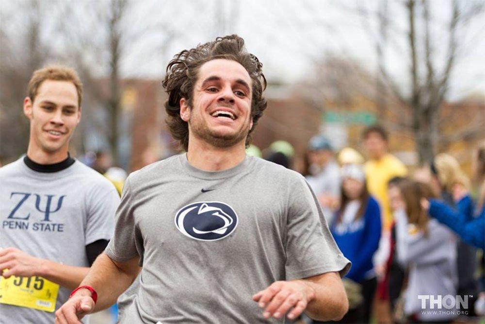 Josh Clothiaux running marathon