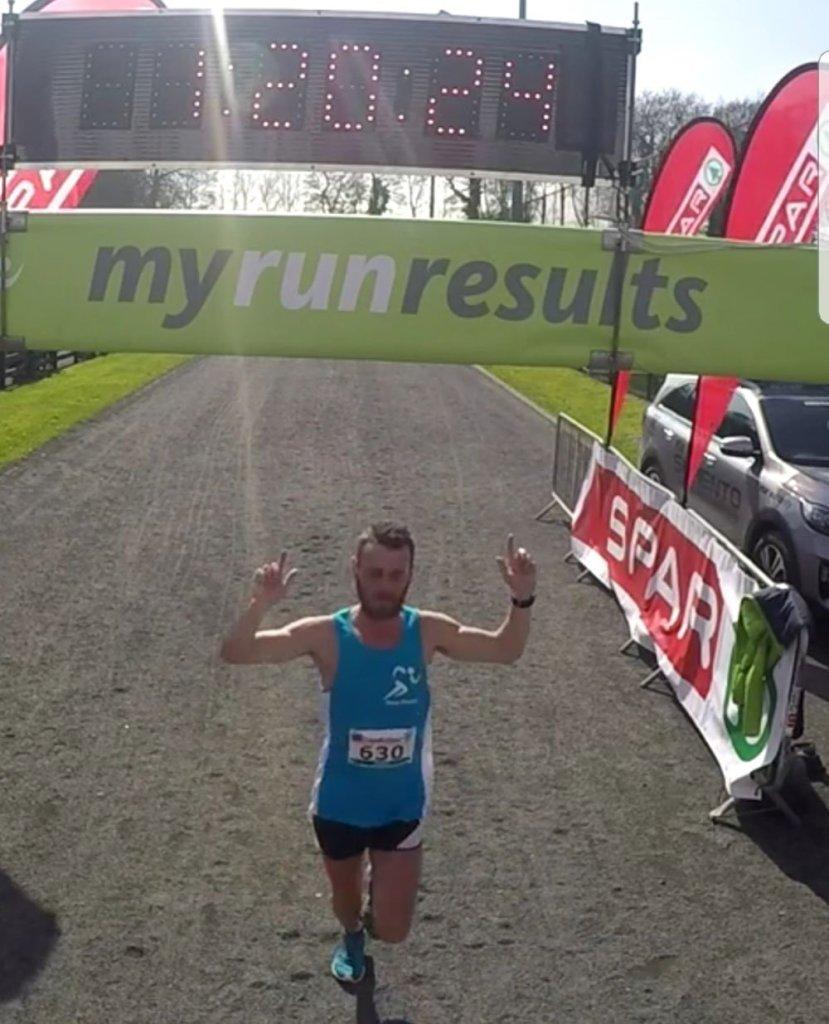 Finish Line at Omagh Half Marathon