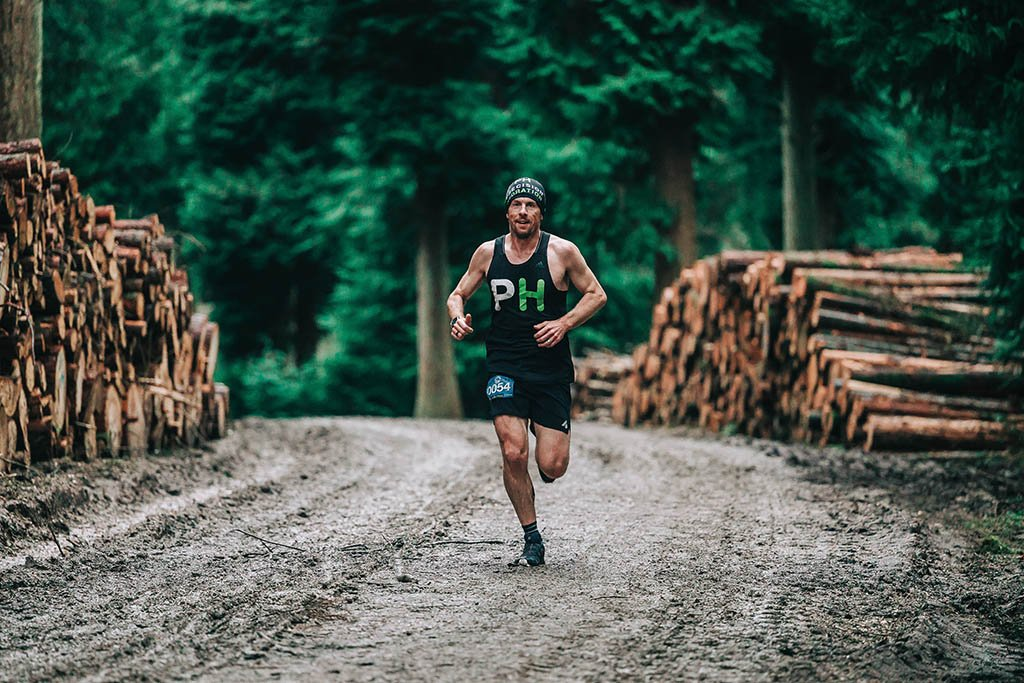 Andy Blow Precision Hydration running on a trail