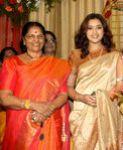 Actress Meena with her mother
