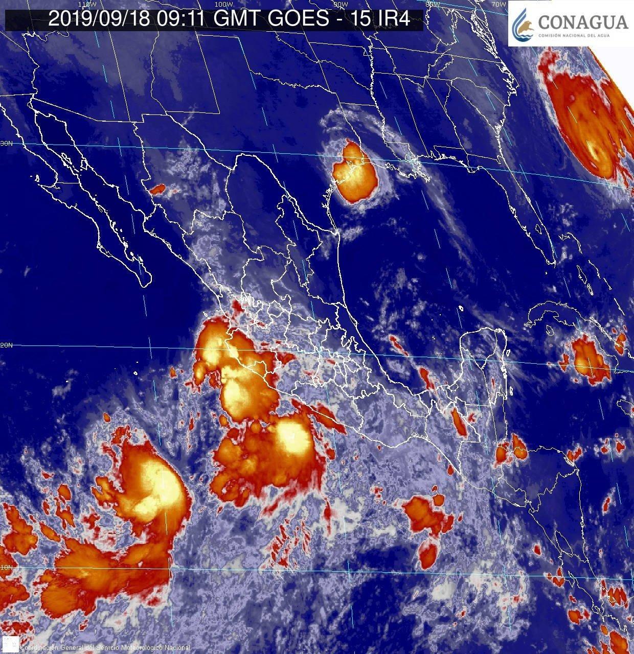 Sinaloa en alerta azul por 'Lorena', prevén traiga fuertes lluvias
