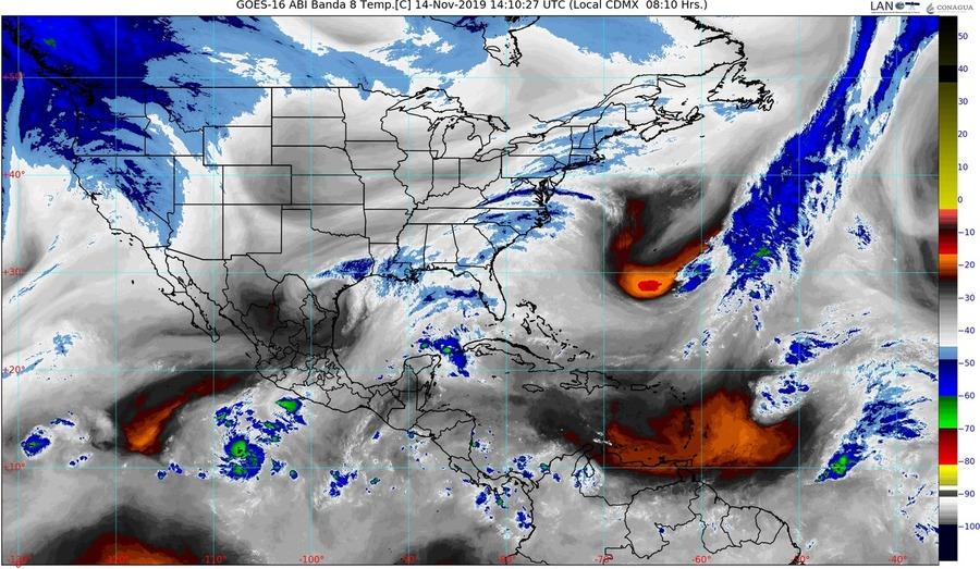 Alerta: Zona con 80% de probabilidad de desarrollo ciclónico amenaza Sinaloa; se mantendrá ambiente muy frío durante la mañana y día nublado