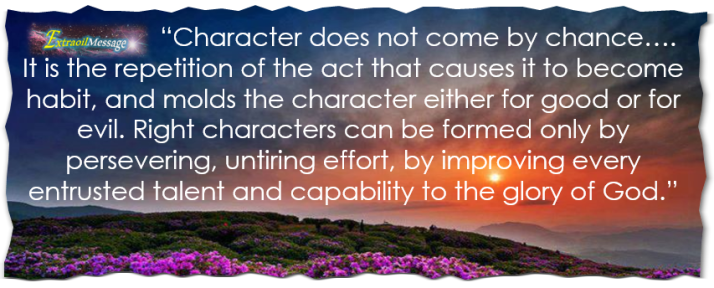character does not come by Chance