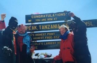 Alex on Mt Kilimanjaro