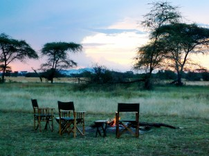 Sundowners on safari in the Serengeti
