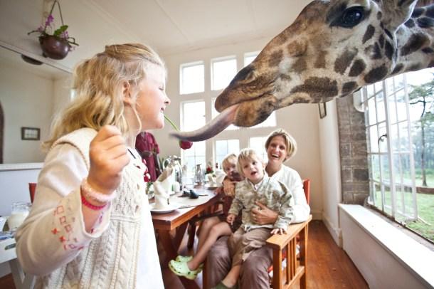 Breakfast at Giraffe Manor
