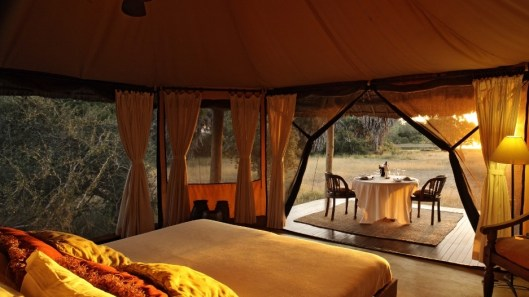 Tent at Siwandu Safari Camp