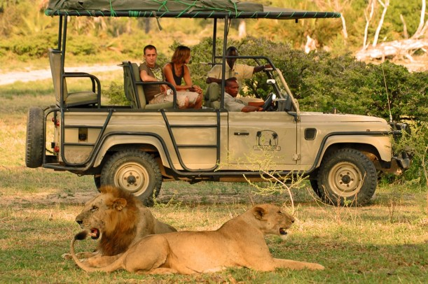 Game Drive at Lake Manze Camp