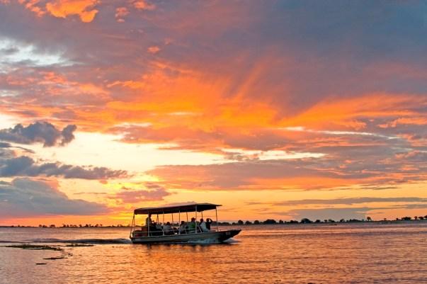 Boat safari at Chobe Chilwero