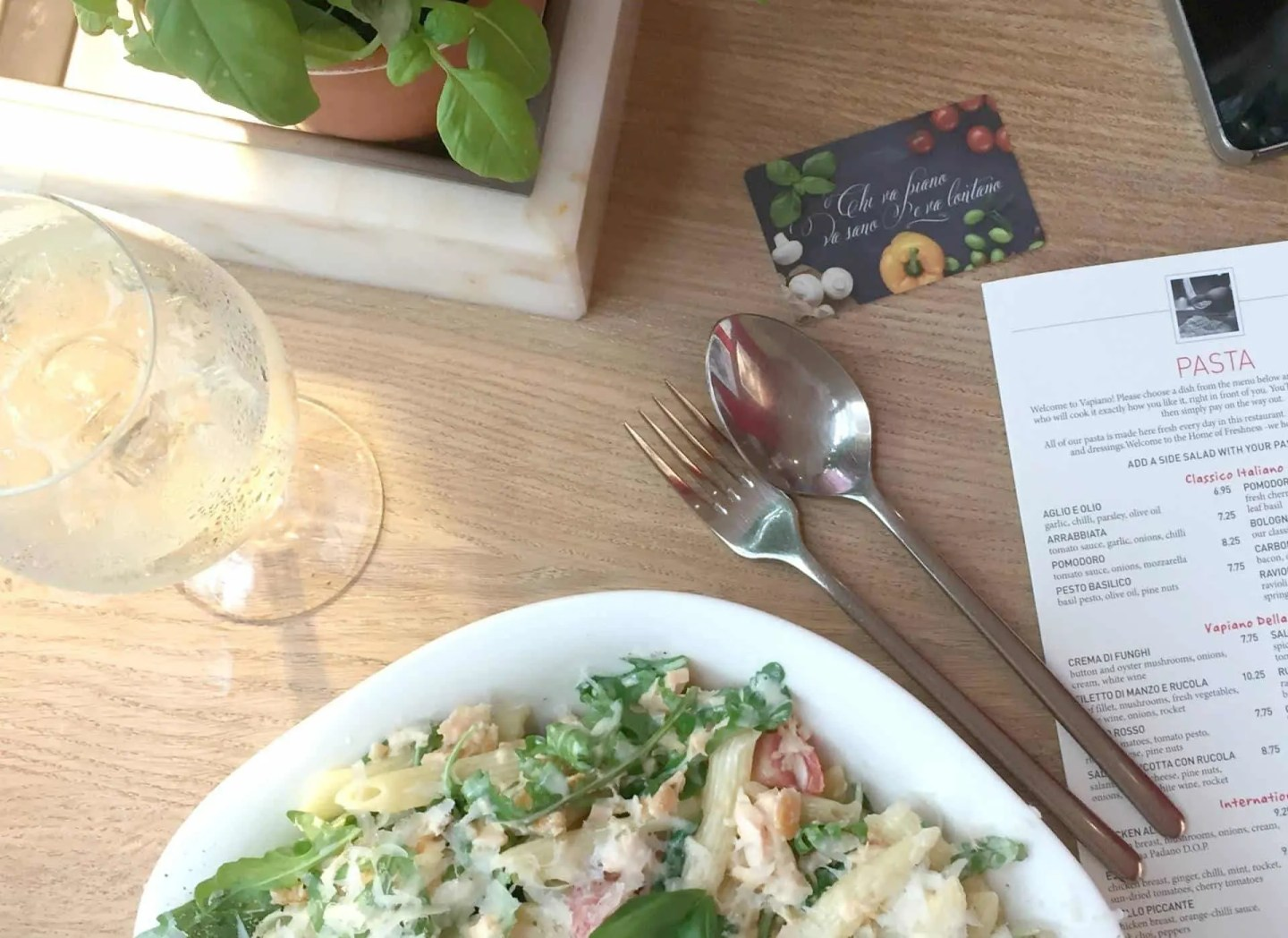 Lunch With a Difference at Vapiano Manchester