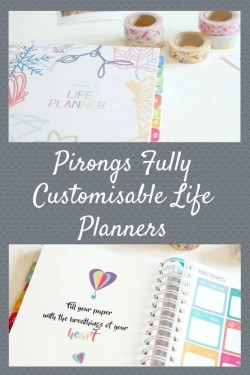 Pirongs  Fully Customisable Life Planners, perfect for travel, life, blogging, wedding, baby and academic planning