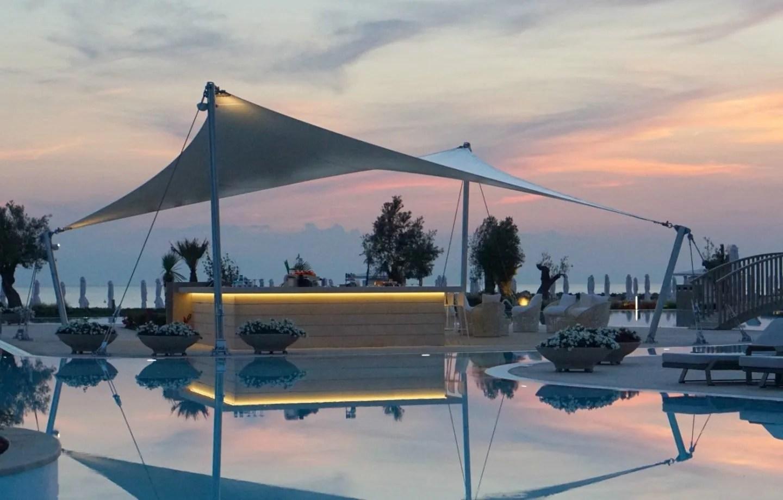 The Pool Bar At Sunset At Sani Dunes www.extraordinarychaos.com