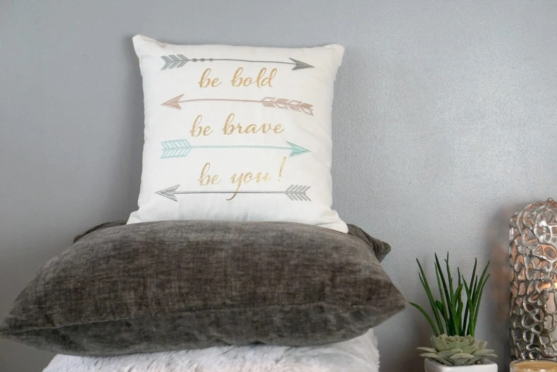 Be bold be brave be you, cosmo cushion Debenhams AW 17 www.extraordinarychaos.com