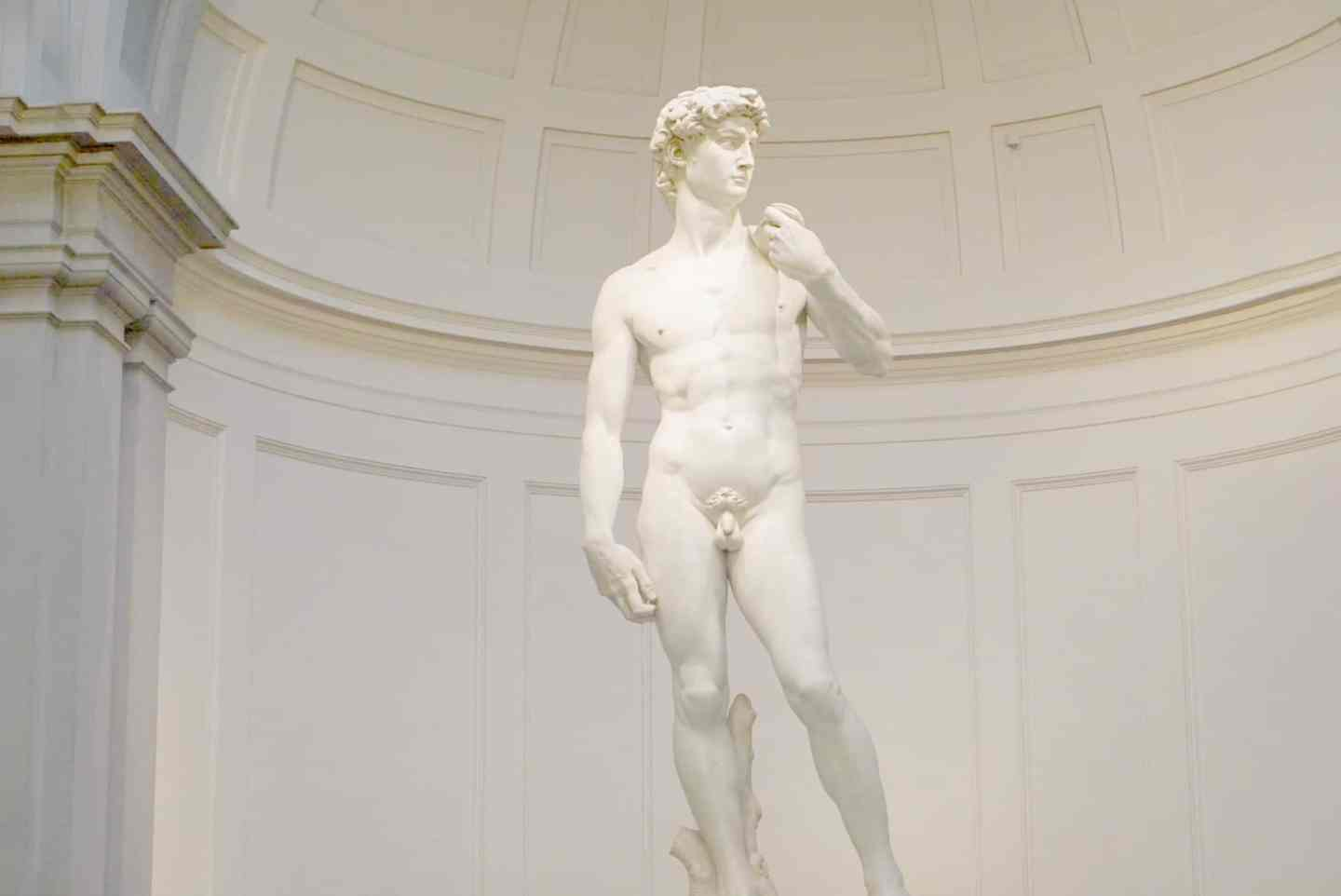 Michelangelo's David at the Academia Museum Florence