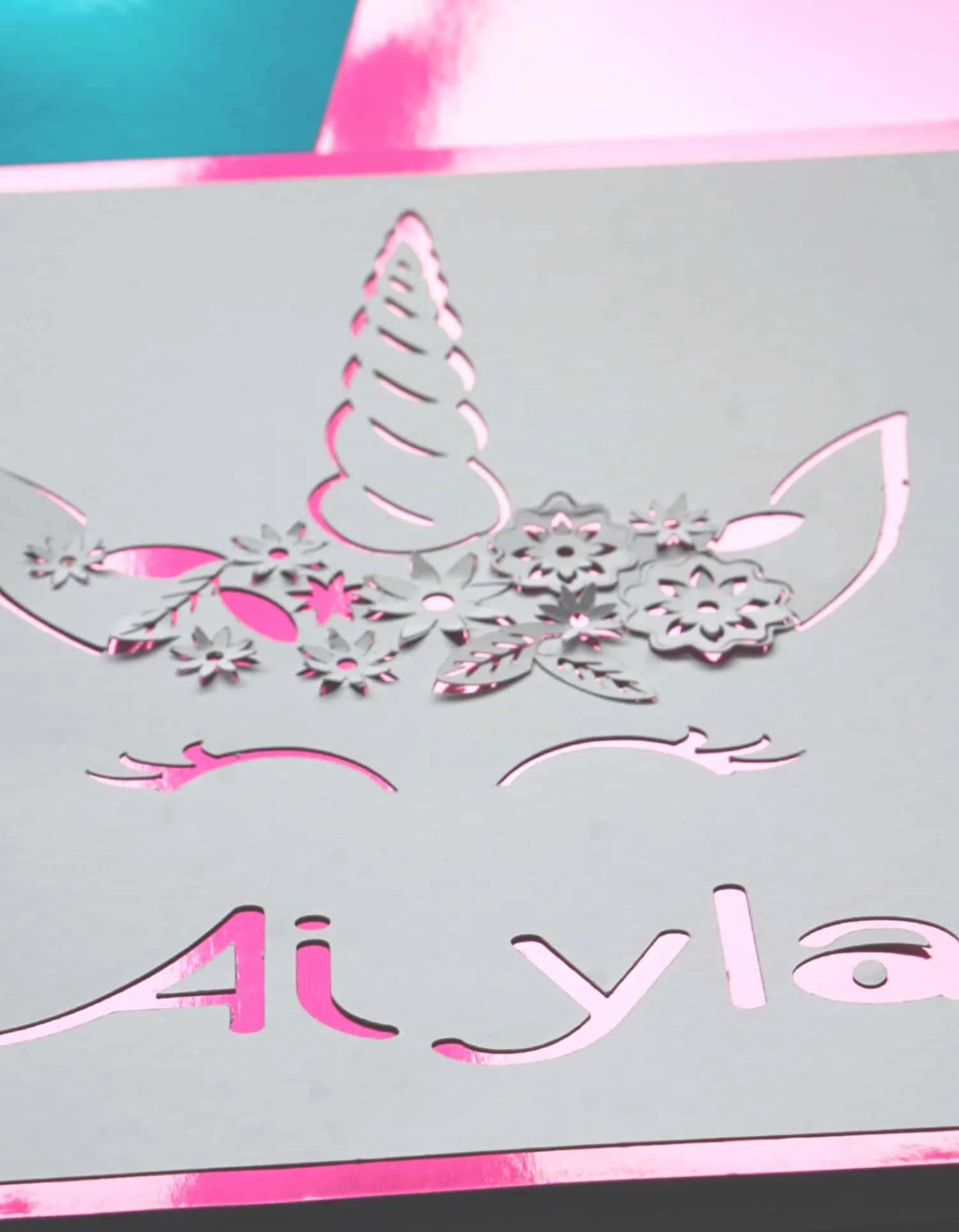 Tutorial for a Unicorn Paper Cut With The Cricut Machine www.extraordinarychaos.com