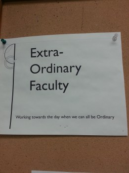 extraordinary faculty sign