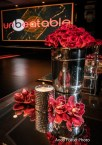 Champagne buckets paved with red roses!