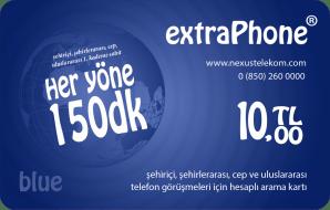 Her Yöne 150 Dakika Telefon Kartı