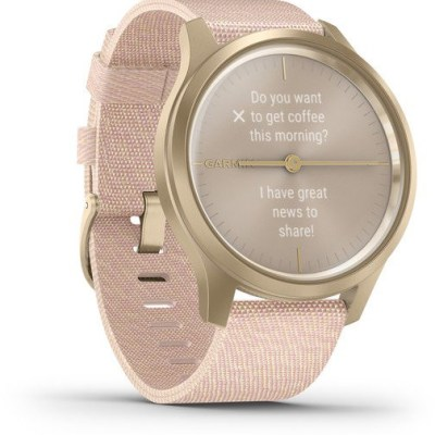 Garmin vivomove Style S/E Woven Band, light gold/blush pink