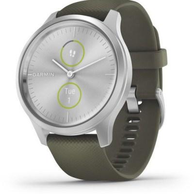 Garmin vivomove Style S/E, silver/moss green