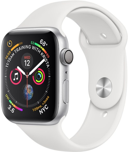 Apple Watch 4 GPS 40mm Sport Band, valge